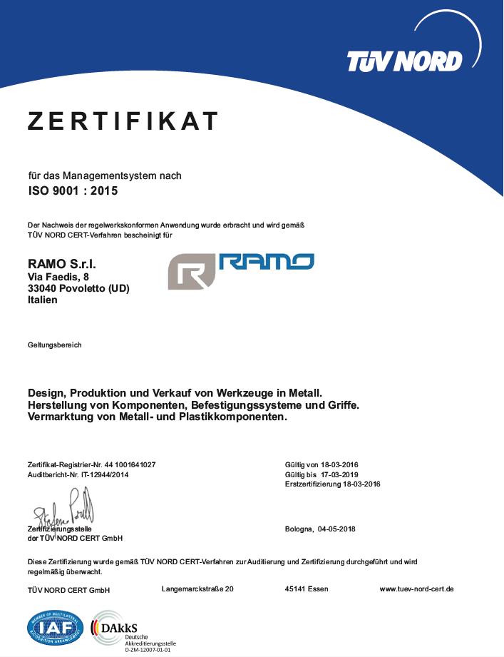 The company - Ramo S.r.l.