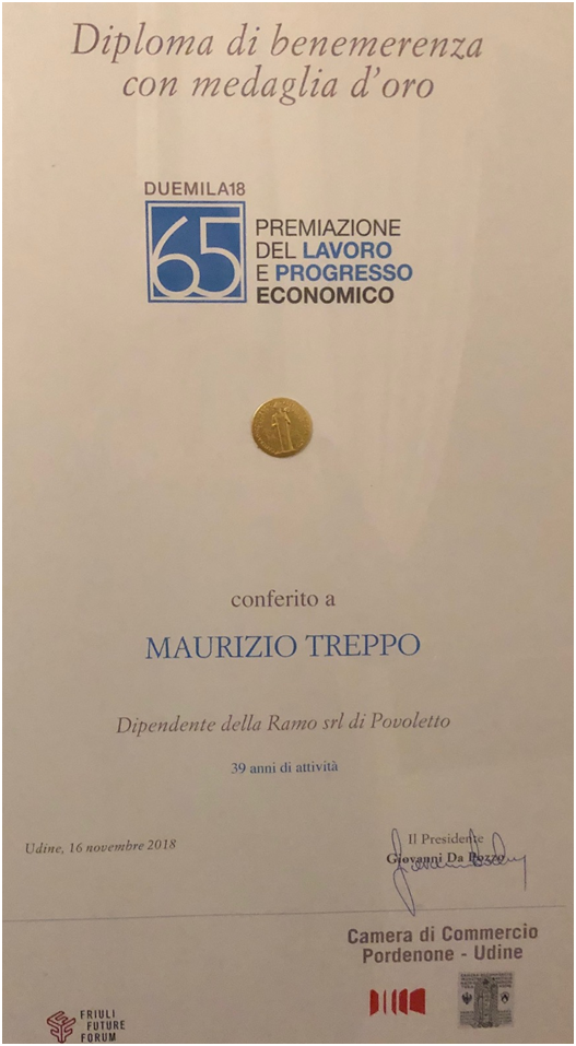 MAURIZIO TREPPO IS GOLD MEDAL